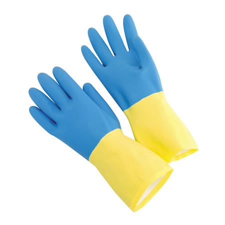 Blue Neoprene over Latex Glove, 28 mil. 12 dozen.